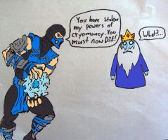Ice King vs. Sub-Zero by chaos-neverthrive