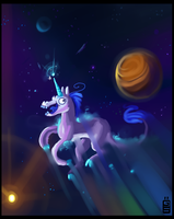Jonston in space by griffsnuff