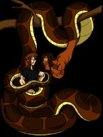 Kaa and Kenneth (Colored) by geekgirl8