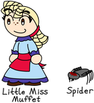 Little Miss Muffet and Spider by BlueHecate