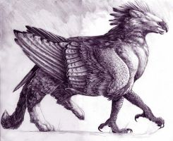 Walking Gryphon by maggock