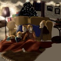 Christmas Sleepy Heads by Yelnatz