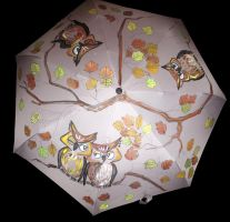 yhe umbrella with owls (2) by marew