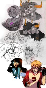 Homestuck collage the revenge by MatchaEle