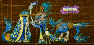 Digimon OC :Shiko and the Mayan/Aztec Bird: by Xelku9