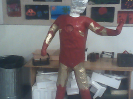 Unfinished Iron Man sculpture by Highlynx