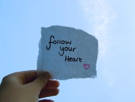 Follow your heart by Atom001