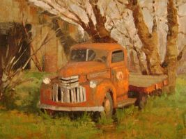 Old Truck in Early Spring by rooze23