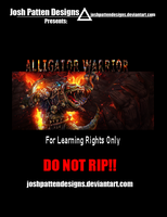 Alligator Warrior PSD by JoshPattenDesigns