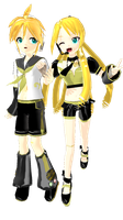 Noir: Rin and Len Kagamine -Possible DL- by scarletrose101