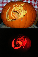 Defeated Azula Pumpkin Carving by Golden-Flute