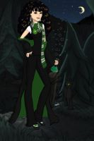 Me in Hogwarts as me by Sathora-Myth
