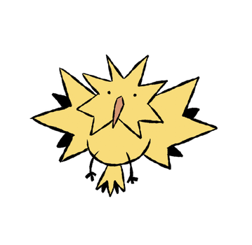 Sharp Birb by WaywardDoodles