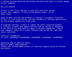 blue screen of death by airbournevirus