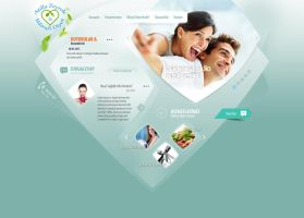 Diet - Health Web Design by l3w3nt