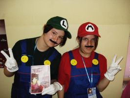 Mario and Luigi Cosplay :D by one-slip