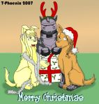 Christmas Dogs 1 by Heliotrope-Housecat