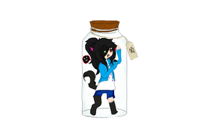 Fluffy-jantlekitty  Oc In A Jar by EmoCatT3T