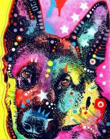 German Shepherd by deanrussoart