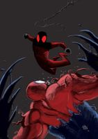 Spider Scarlet vs Toxin by FrancescoIaquinta