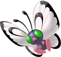 Butterfree Shiny by lilly-gerbil
