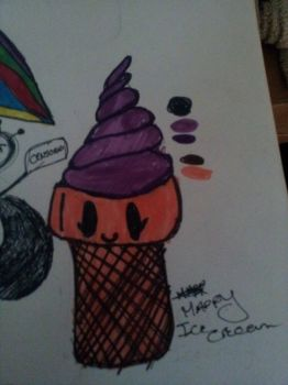 Happy Ice Cream (SOLD ADOPT by zombiedragonqueen14