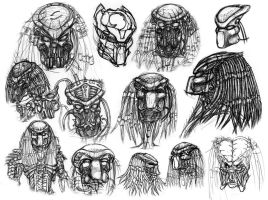 Predator Portraits III by ButtZilla