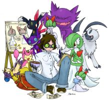 Prof Hazel - PokePsychology by byona