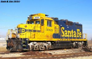 Original Santa Fe GP20 3069 at Decatur, IL by EternalFlame1891