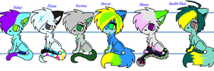 All My Main Charas At A Glance by CyanStorm