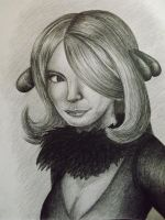 Cynthia (Shirona) 8B Pencil Rendition by sudro