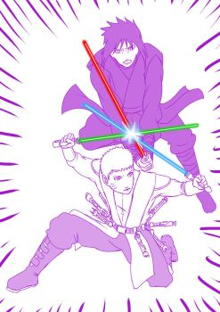 03 Star wars Naruto - naru vs sasuke by mattwilson83