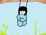 Japanese tree doll 'drawing' by electricramen
