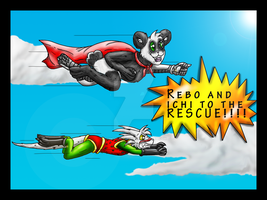 Super heroes FLY by Swimmingferret