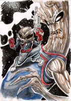 Groot and rocket racoon by Vinz-el-Tabanas