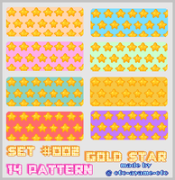 PATTERN SET 002 - Gold Star by AndreeaArsene
