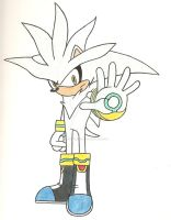Silver the Hedgehog by linkhedgehog