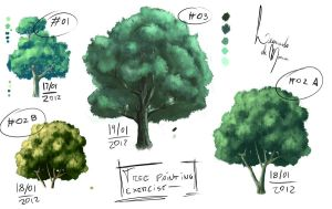 Tree Painting Exercise by LeoDeMoura