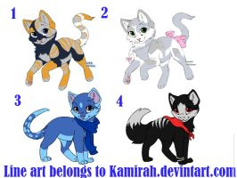 Free Kitten adoptables *CLOSED* by Midnightshewolf