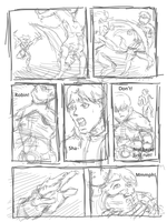 Sketch Outline: Robin/ Billy comic short by EvilFuzz