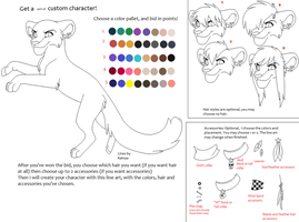 Buy a color pallet for a character design! by Kainaa