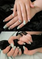 Mint nails by AmbisMortem