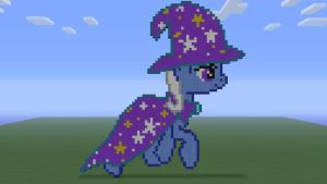 MLP The Great and Powerful Trixie in Minecraft by o0rolyat0o