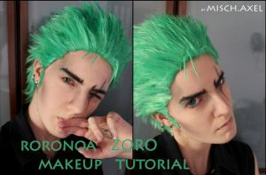 Roronoa ZORO makeup video tutorial by MischievousBoyAilime
