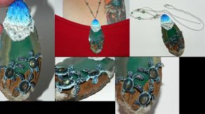 Take Courage! Labradorite Baby Sea Turtles on Agat by Secretvixen