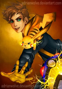 Spark Team Instinct Leader - Pokemon GO! FanArt by AdrianWolve