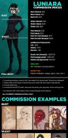 Luniara Commission Prices 2015 by luniara
