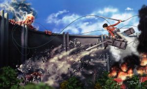 attack on titan by shambolic-art