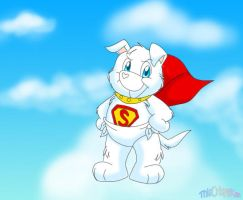 Krypto Heart the Superpup by ThisCrispyKat