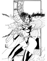 winged women inks by toddrayner